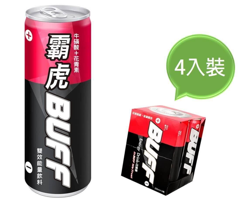 【霸虎BUFF】能量飲料 戰鬥力-紅 (4入裝)