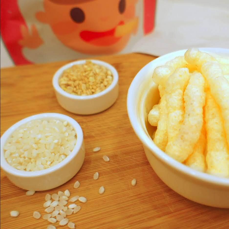 【捷捷寶寶粥】榖咕手指餅乾-有機白米餅