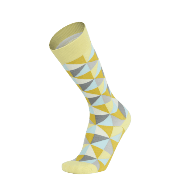 【WALKPLUS】MBJ小腿壓力襪►紐約設計師款(黃綠L)