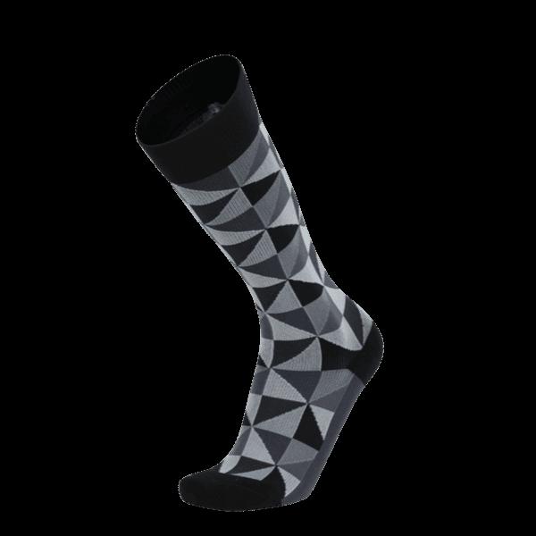 【WALKPLUS】MBJ小腿壓力襪►紐約設計師款(黑灰XL)